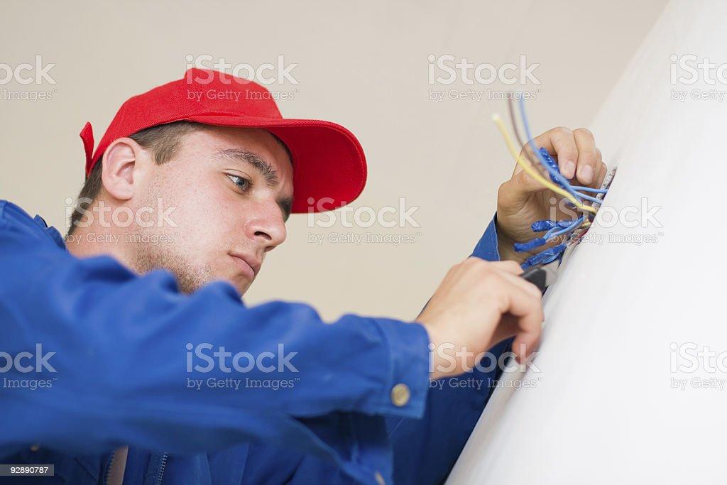 Handyman in duty royalty-free stock photo