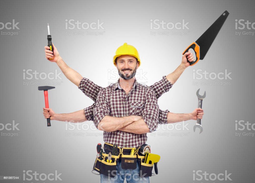 Handyman stock photo