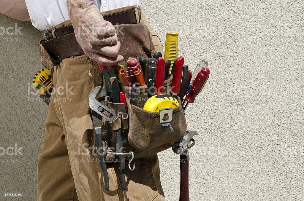 Handyman With Tool Belt stock photo