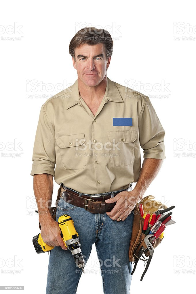 Handyman With Tool Belt royalty-free stock photo