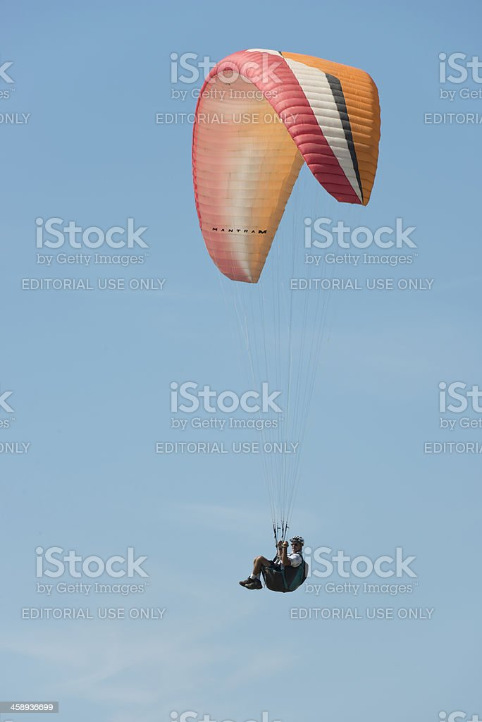 Hang Glider at Torrey Pines Gliderport, San Diego, California stock photo