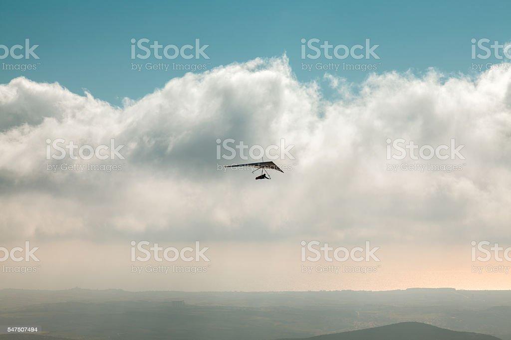 Hang glider stock photo