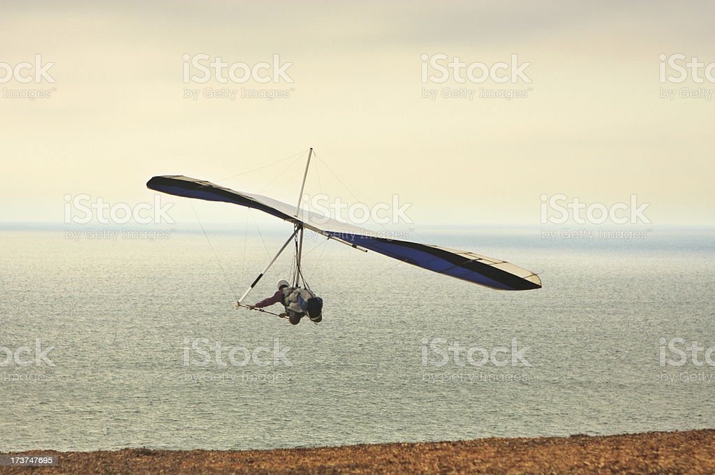 Hang Glider Pilot Launching royalty-free stock photo