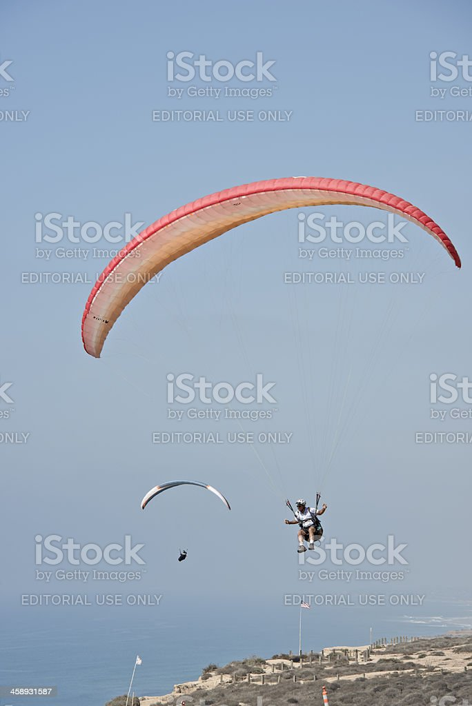 Hang Gliders at Torrey Pines Gliderport, San Diego, California royalty-free stock photo