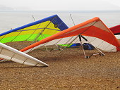 Hang Gliders Parked