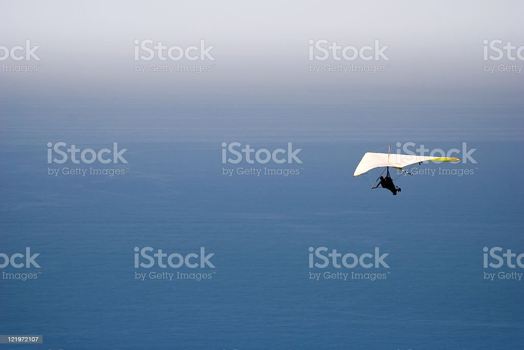 Hang gliding over the Sea royalty-free stock photo