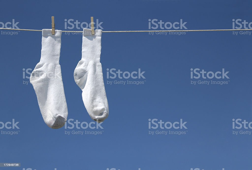 Hang in there socks royalty-free stock photo