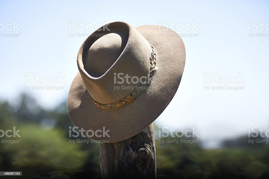 Hang your hat after a busy day wrangling royalty-free stock photo