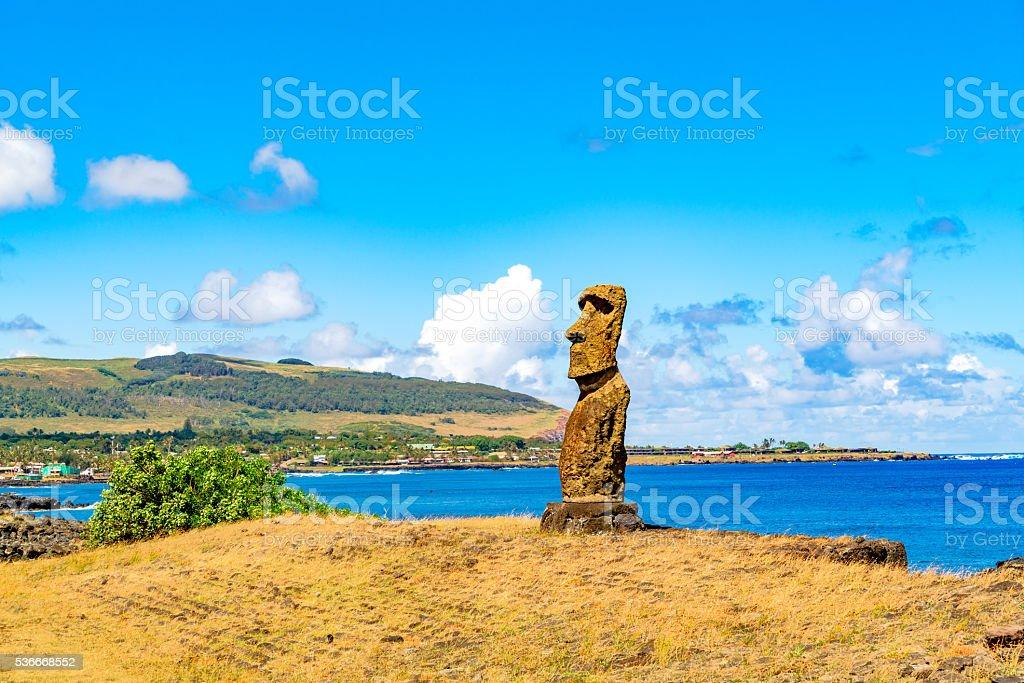 Hanga Kio e Ahu Akapu in Rapa Nui National Park stock photo