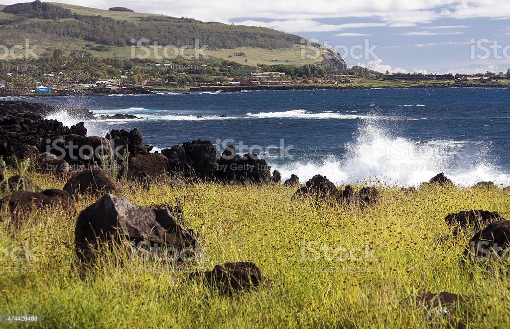 Hanga Roa, Easter Island stock photo
