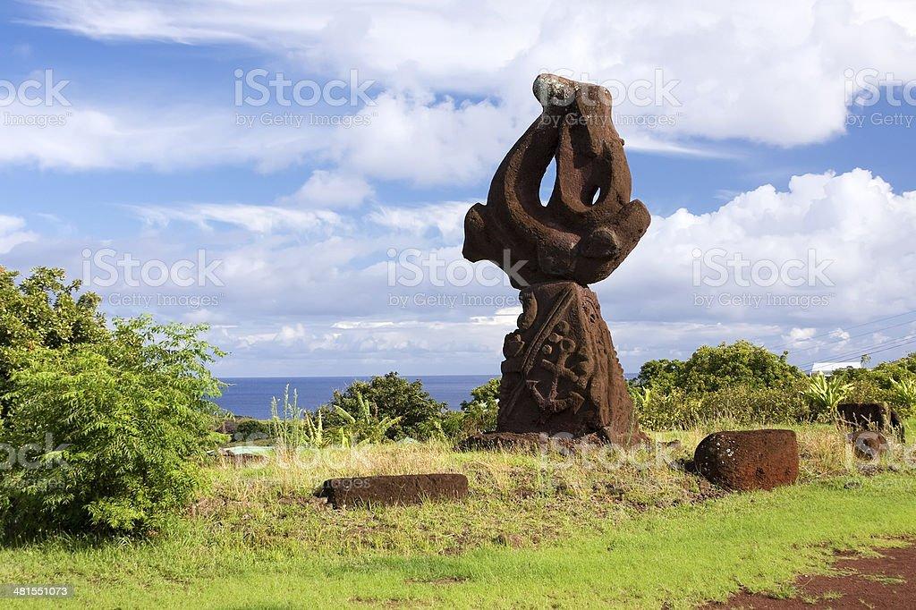 Hanga Roa, Easter Island royalty-free stock photo