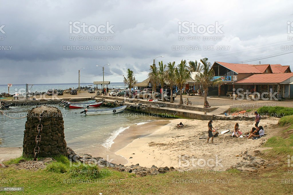 Hanga Roa, Easter Island stock photo