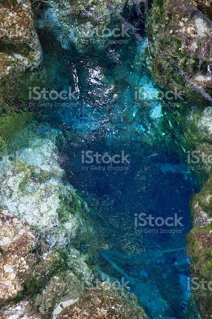 Hangarua Spring in Hamurana Springs, New Zealand stock photo