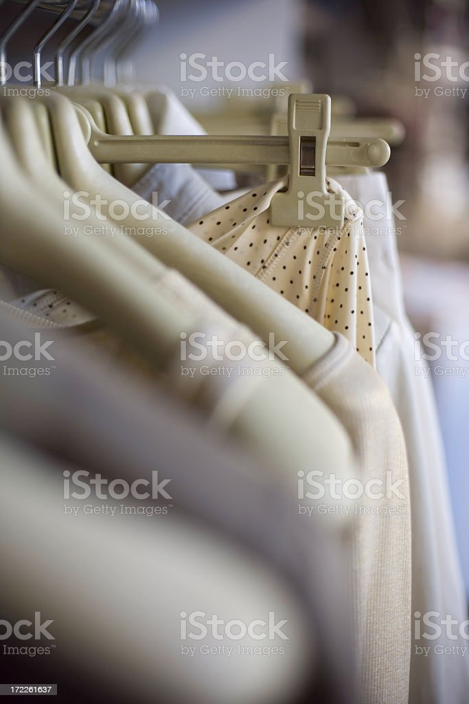 Hanged dress royalty-free stock photo