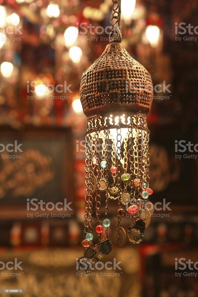 hanged eastern lamps lanterns royalty-free stock photo