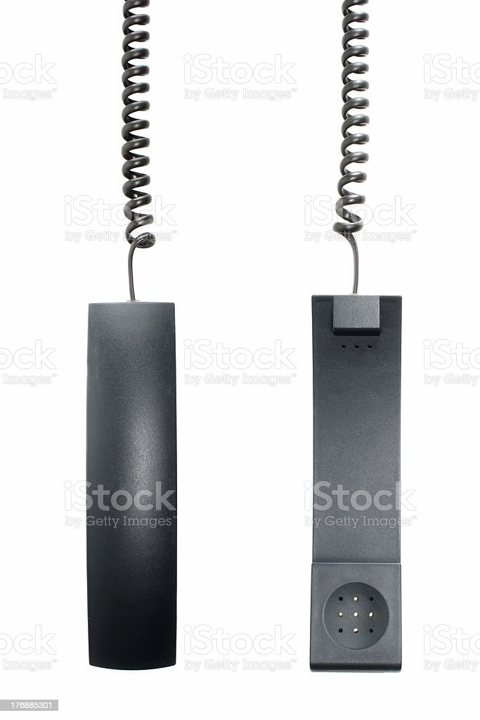 Hanged on the phone royalty-free stock photo