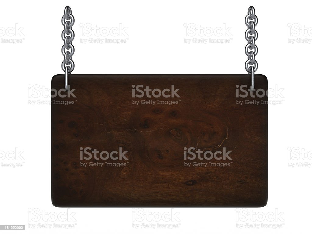 Hanged wooden plate royalty-free stock photo