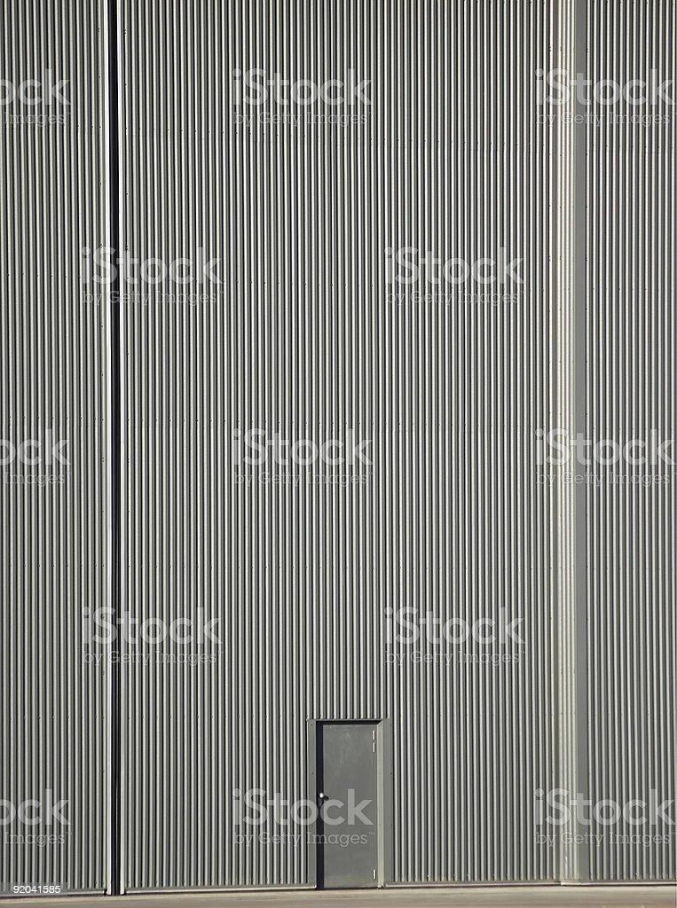 hanger doors stock photo