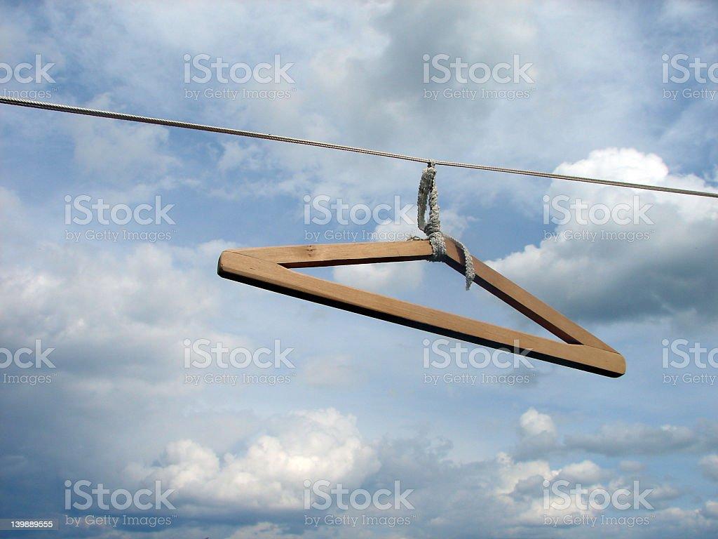Hanger on line royalty-free stock photo