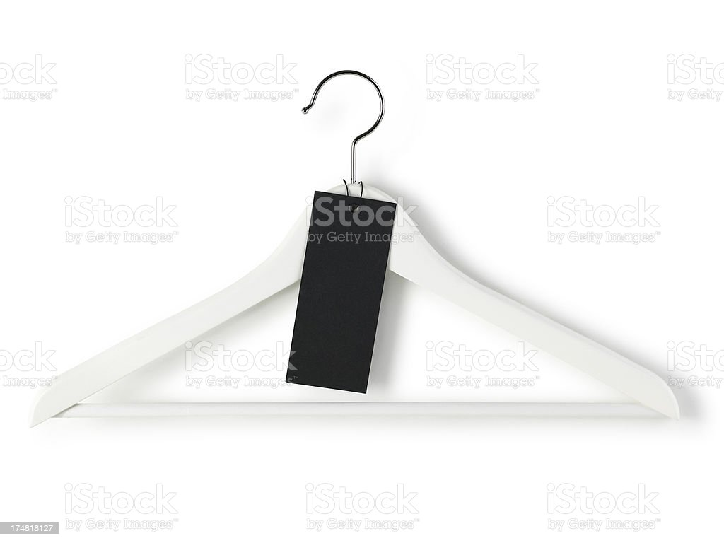 hanger with label stock photo
