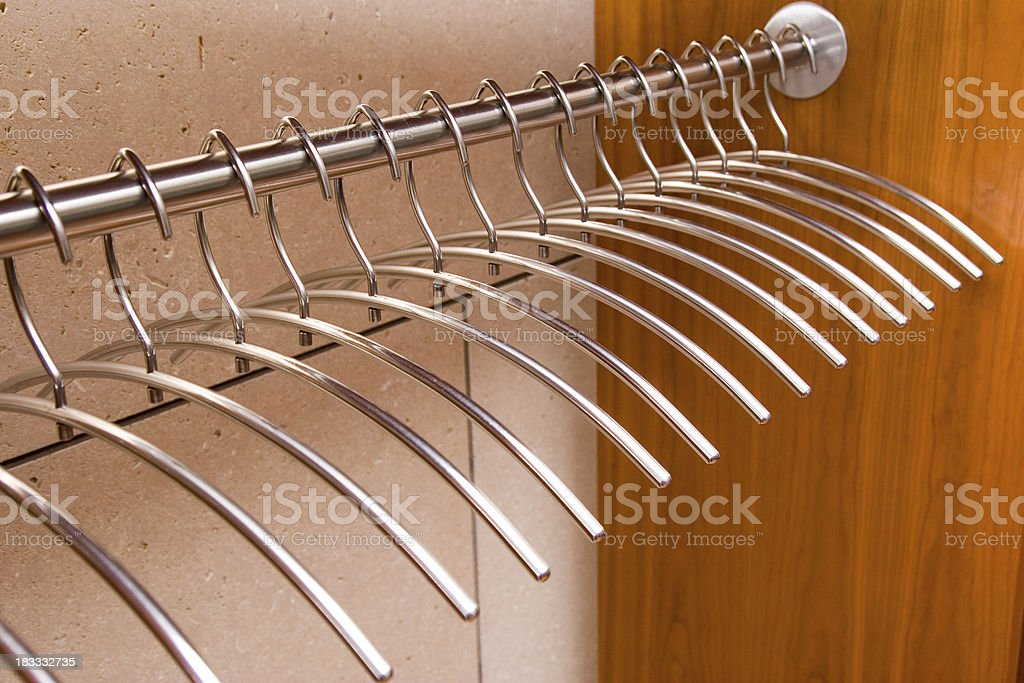 Hangers in Orderly Rank royalty-free stock photo