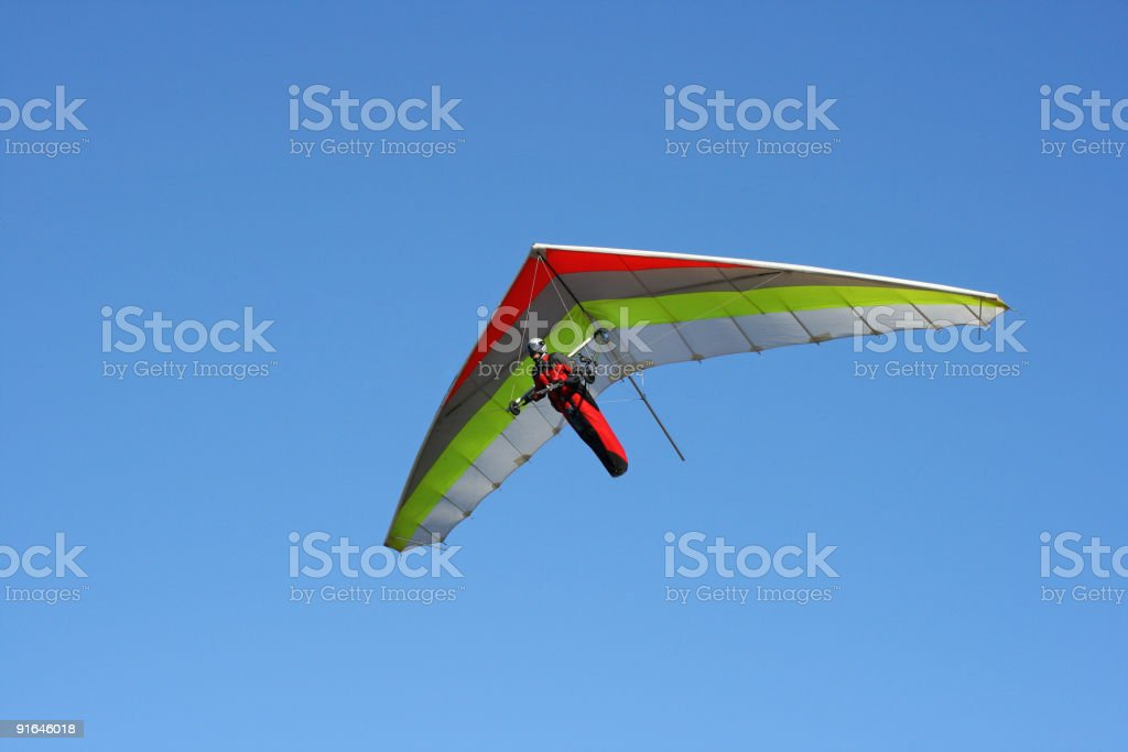 Hangglider in action(Grobnik-Croatia) stock photo