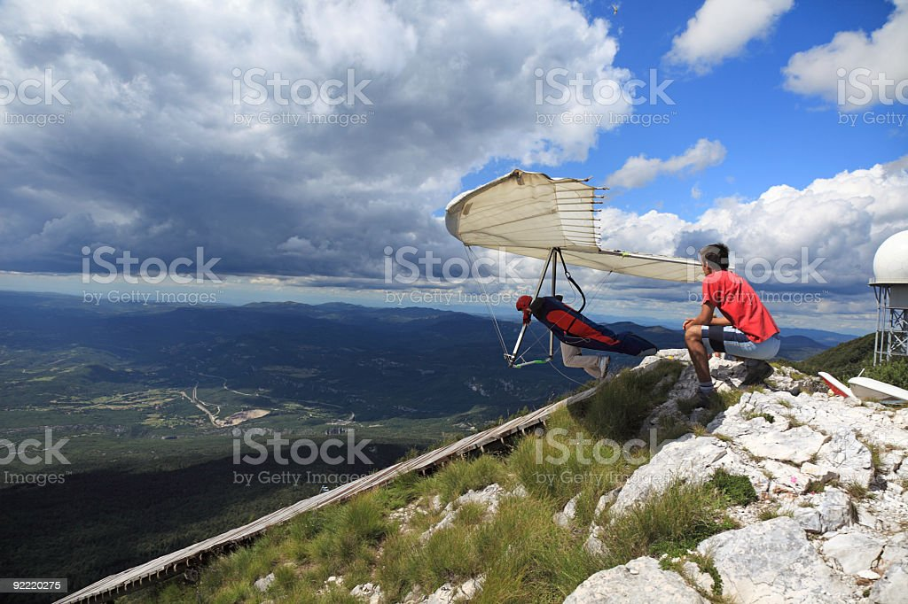 Hangglider in action royalty-free stock photo