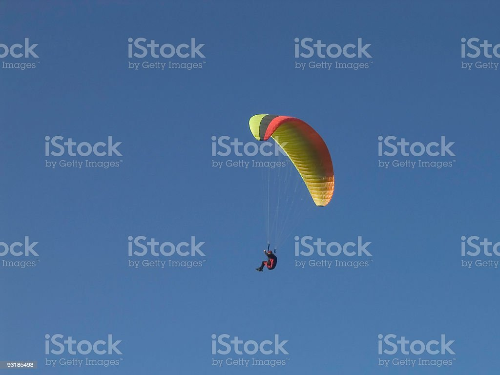 Hang-glider On Blue royalty-free stock photo