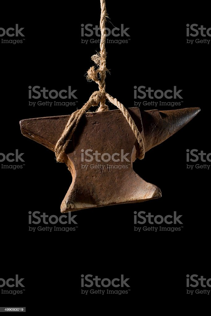 Hanging Anvil stock photo