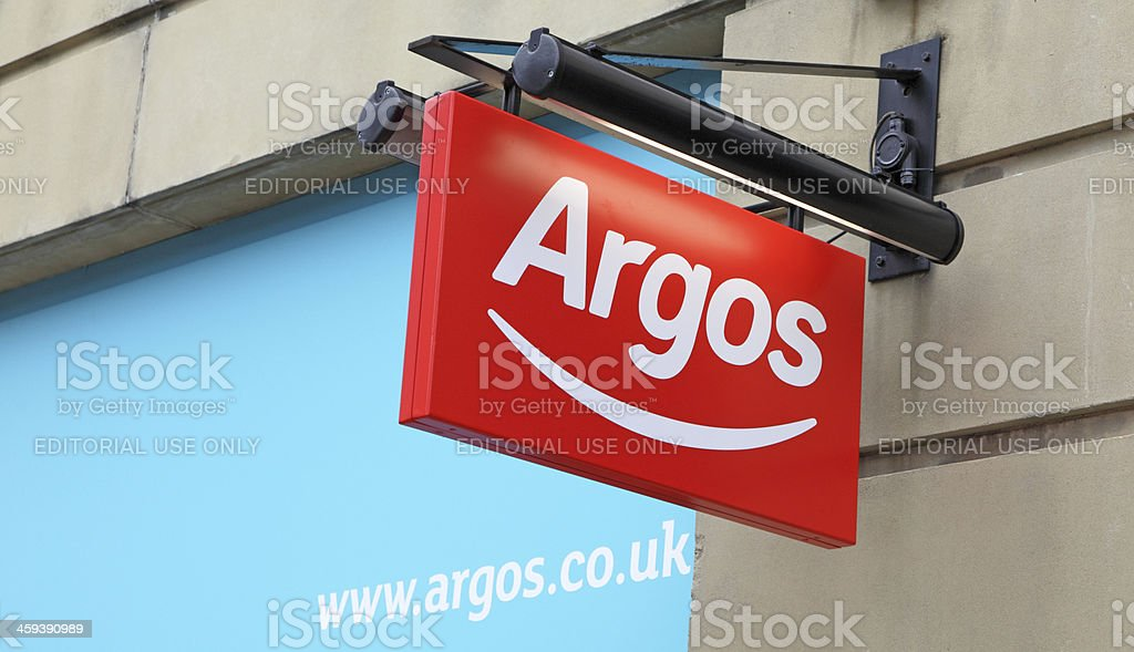 hanging Argos sign royalty-free stock photo