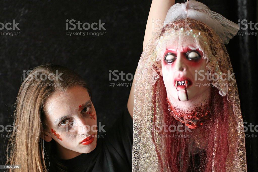 Hanging Around with a Vampire stock photo