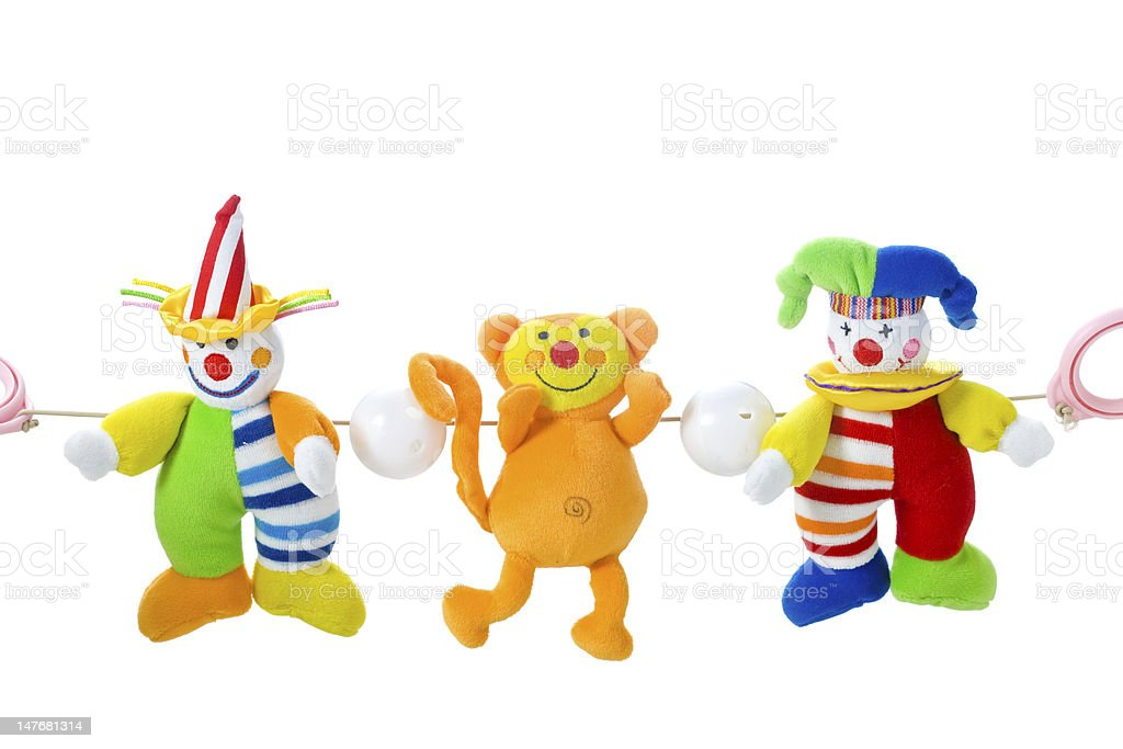 Hanging baby toys royalty-free stock photo