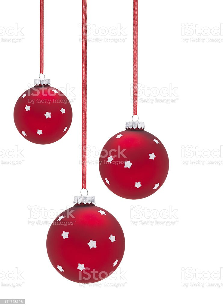 Hanging Baubles royalty-free stock photo