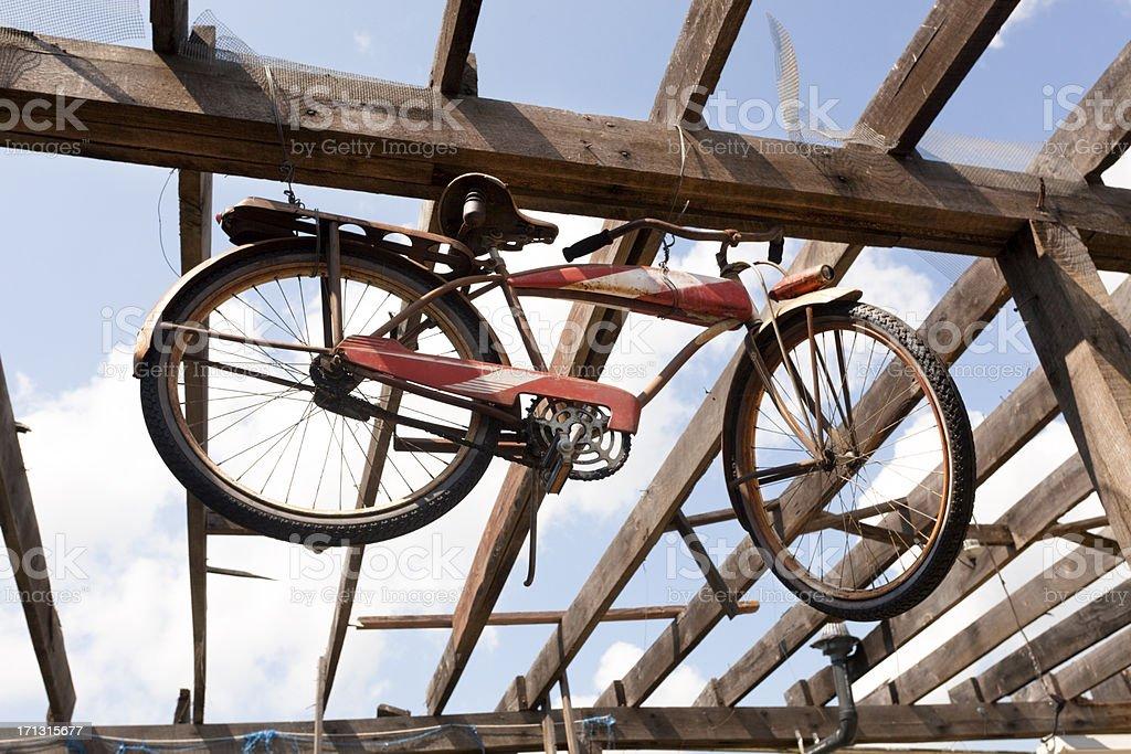 Hanging Bike royalty-free stock photo