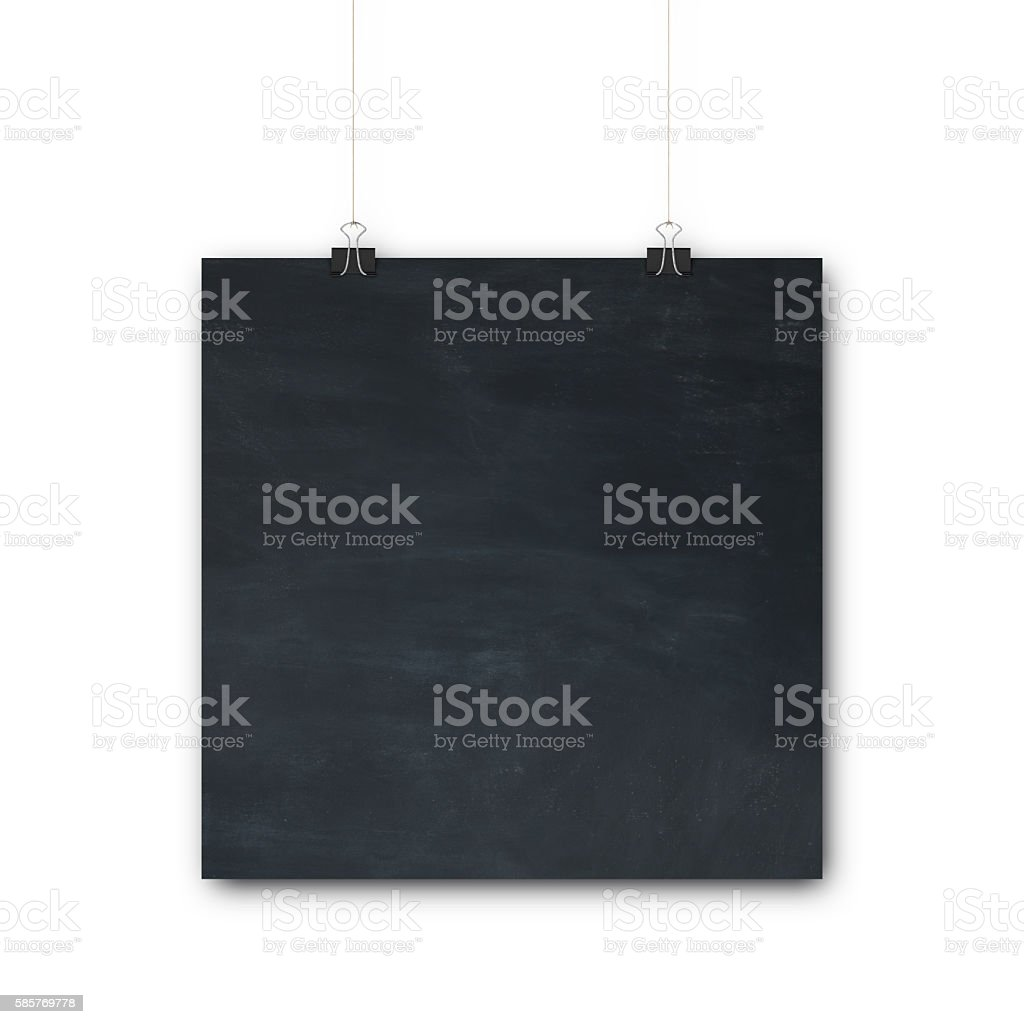 Hanging blackboard sign stock photo