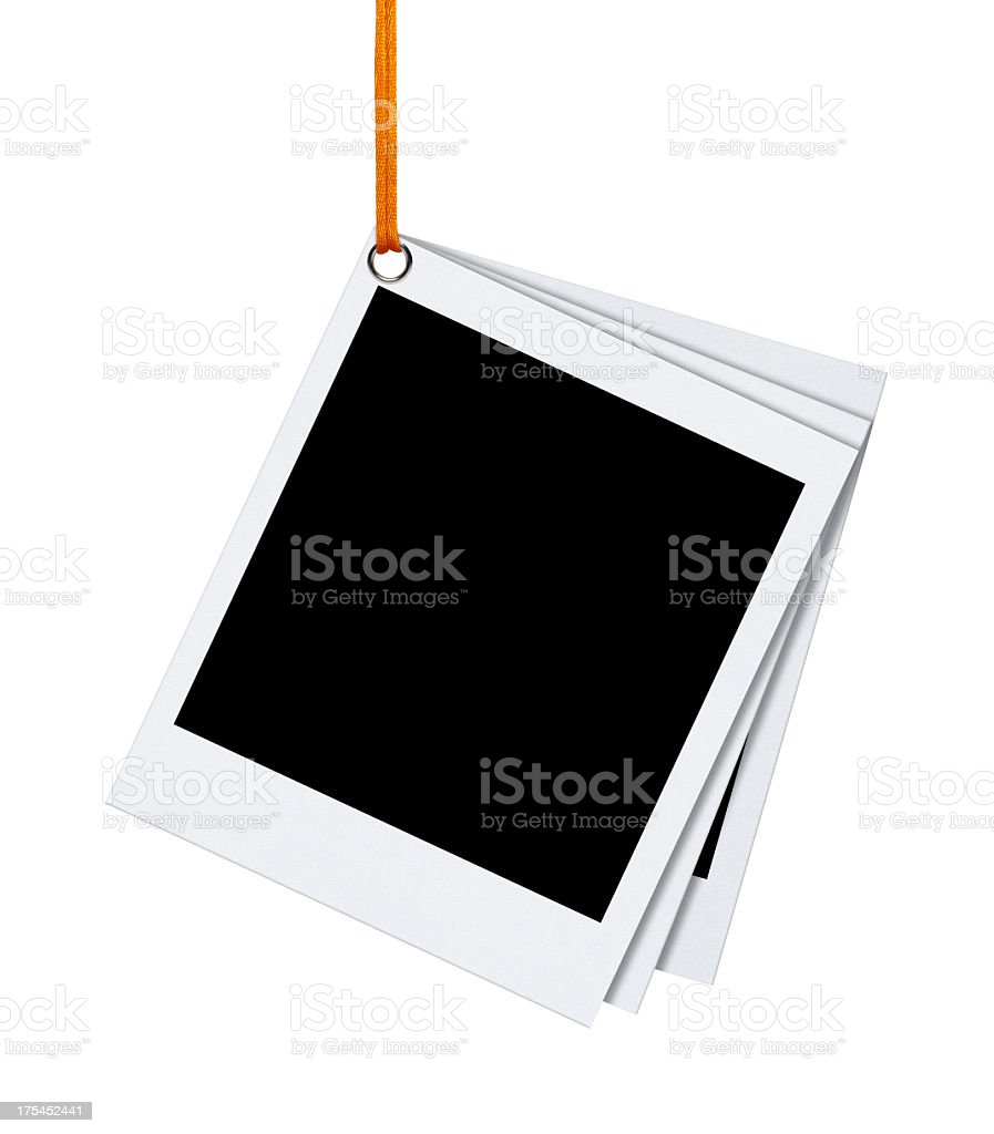 Hanging Blank Photo (Clipping Path) royalty-free stock photo