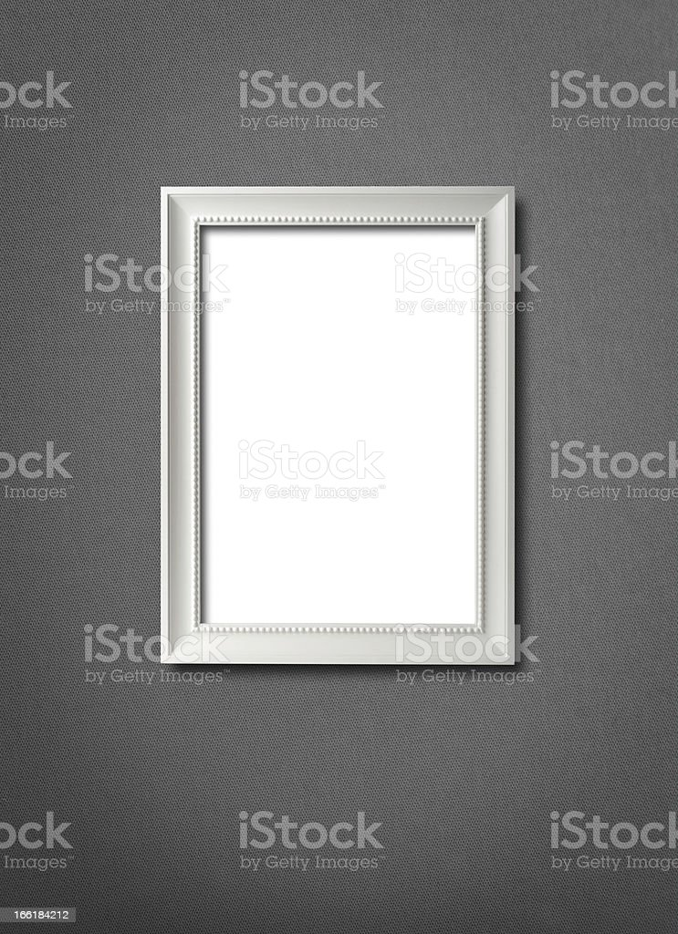 Hanging blank picture frame stock photo