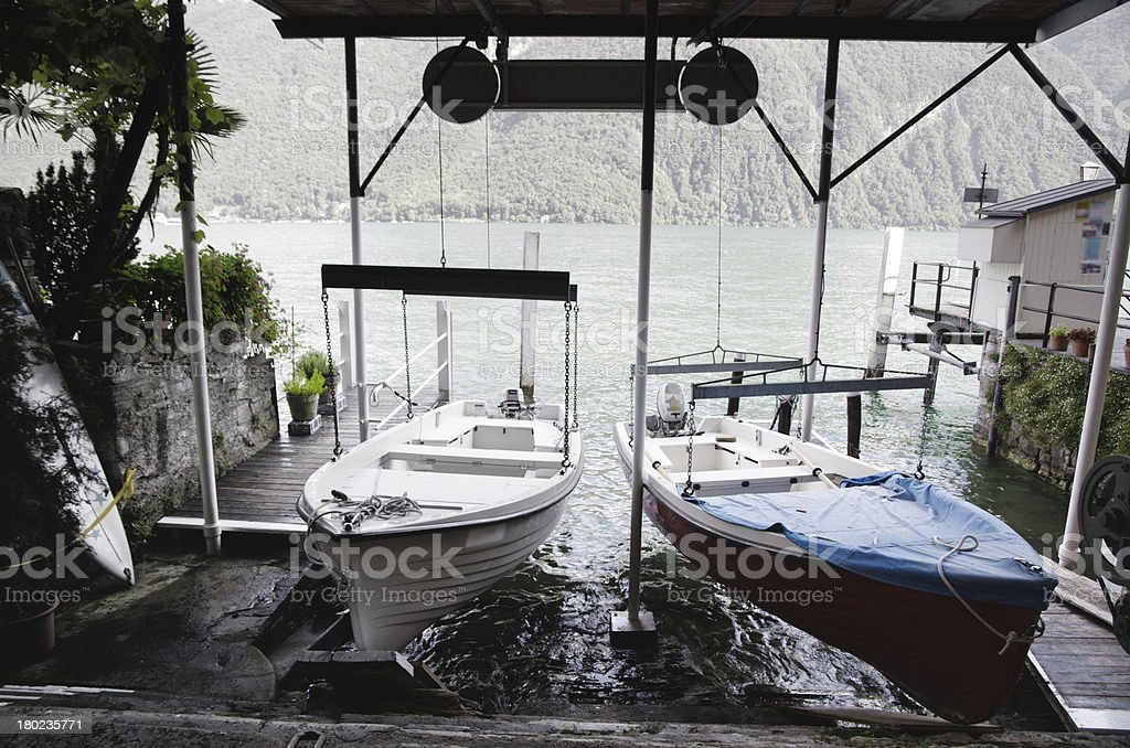 Hanging boats royalty-free stock photo