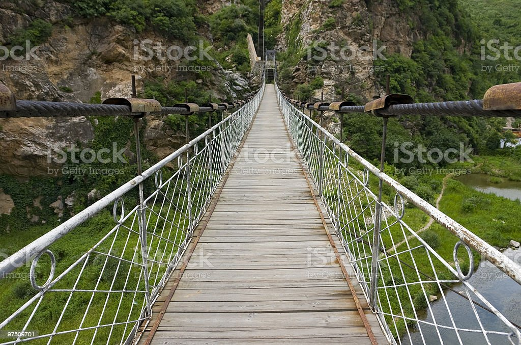 Hanging bridge royalty-free stock photo