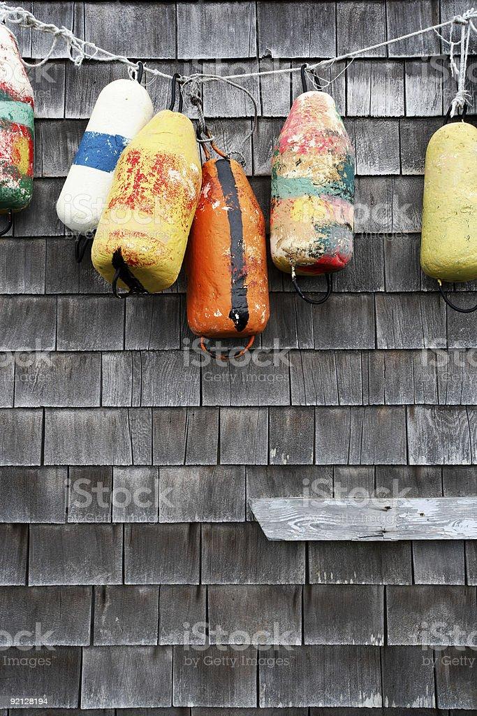 Hanging buoy stock photo