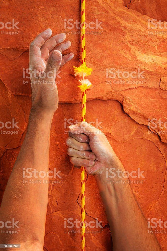 Hanging by a Thread royalty-free stock photo