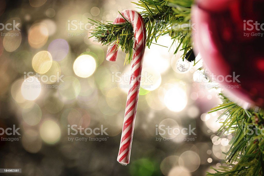 Hanging Candy Cane stock photo