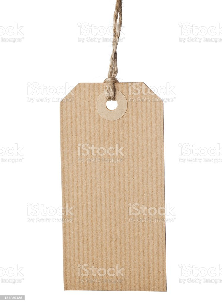 Hanging cardboard tag royalty-free stock photo