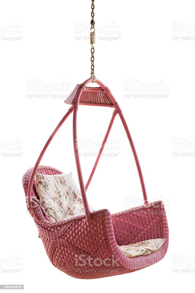 Hanging chair stock photo