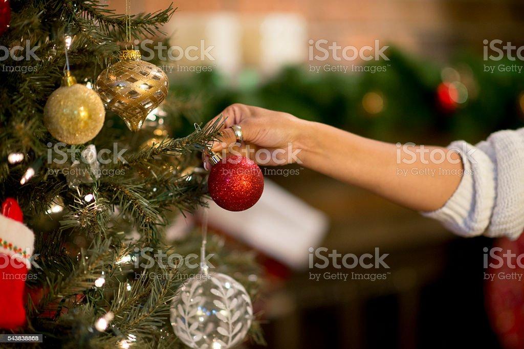 Hanging Christmas Ornaments stock photo