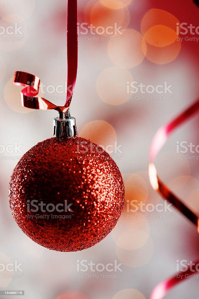 Hanging christmas tree decoration stock photo