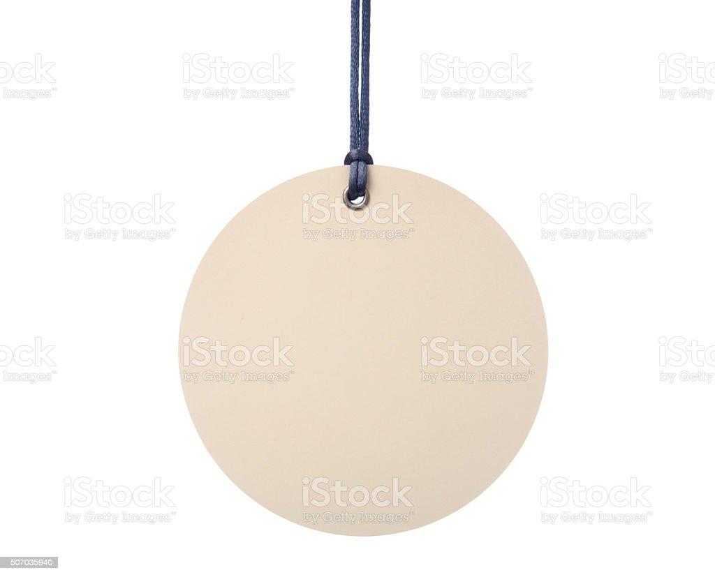 Hanging Circular Tag stock photo