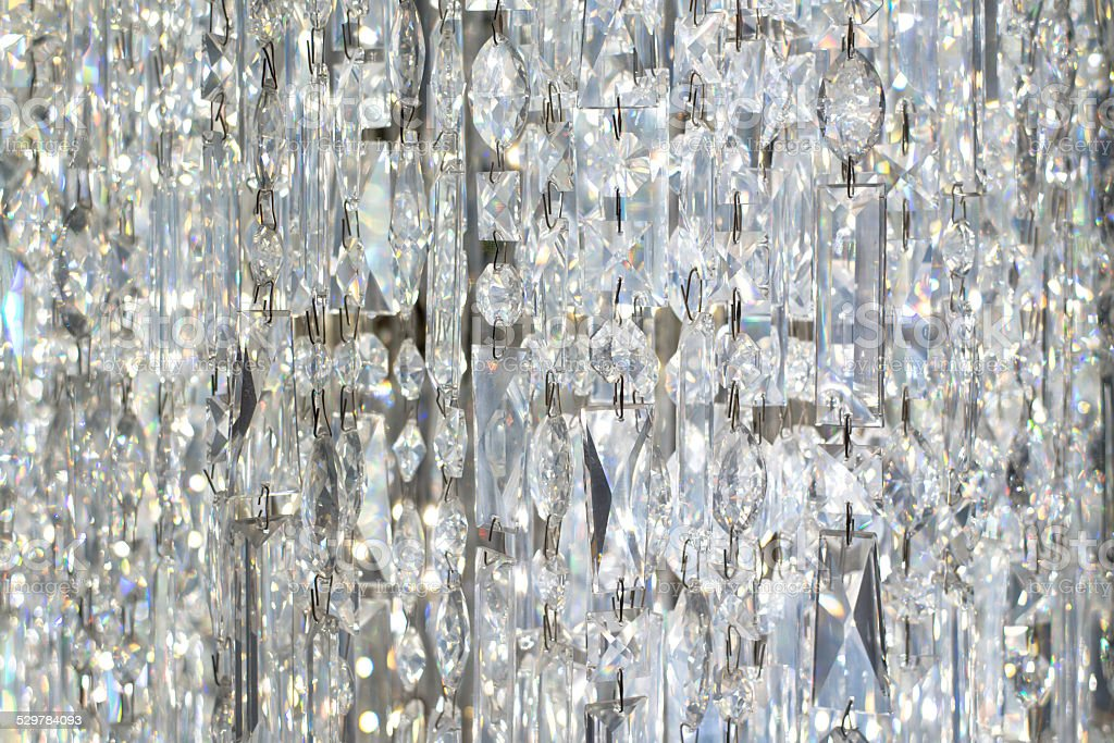 Hanging Crystal Curtain stock photo