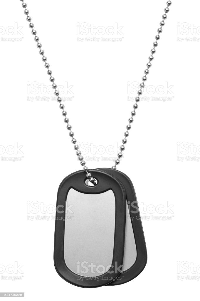 Hanging Dog Tags stock photo