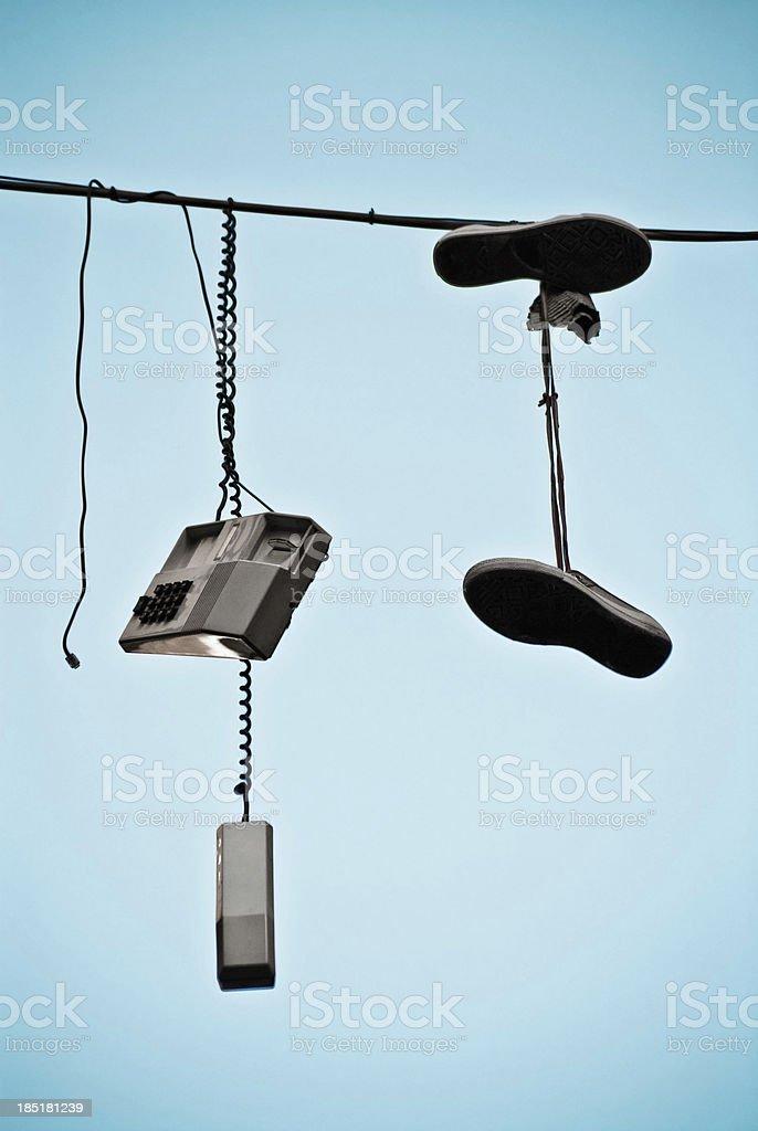 Hanging down. stock photo